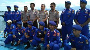 Kapolres bersama para Kasat dan Kabag serta Satpol Air