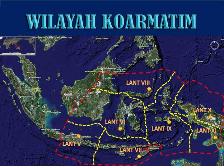 Peta wilayah Koarmatim. (Foto: ist/wikipedia)