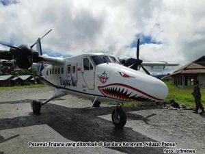 Pesawat Ditembak Lagi di Keneyam, Kali Ini 3 Tewas