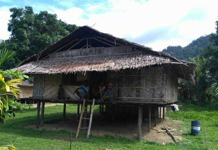 Rumah warga di Teluk Wondama
