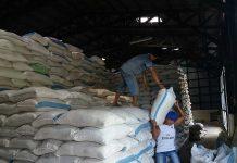 Stok beras di gudang Bulog, Teminabuan.