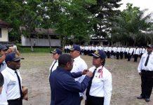 Bupati Manokwari Demas Paulus Mandacan dalam penutupan Diklat Prajabatan di di BLK Kehutanan, Sanggeng, Sabtu (9/12).