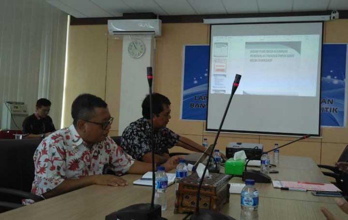 Media workshop laporan pertangungjawaban bantuan keuangan partai politik di BPK RI Perwakilan Papua Barat, Jumat (15/12).