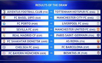 Hasil undian 16 besar Champions League.