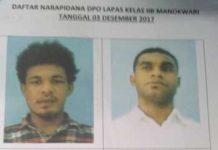 DPO empat napi yang melarikan diri dari Lapas Kelas IIB Manokwari.