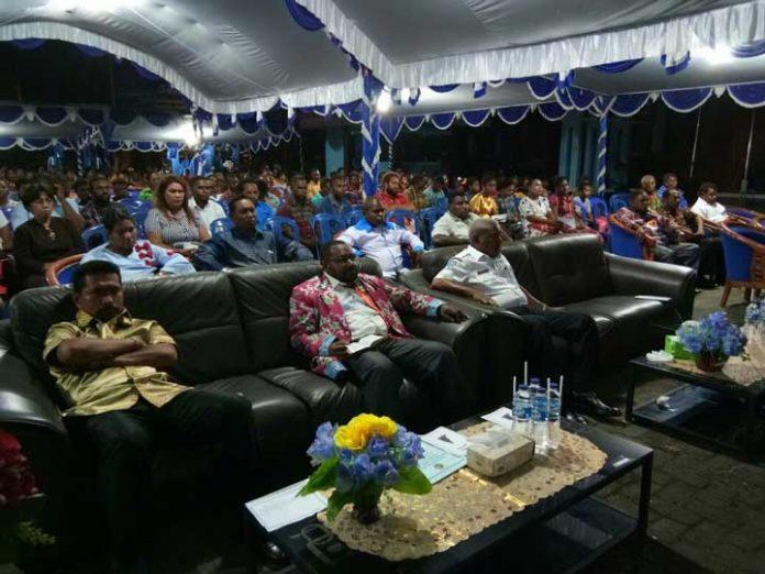 Perayaan Natal bersama pemuda Manokwari yang digelar KNPI PB, Rabu (13/12) malam.