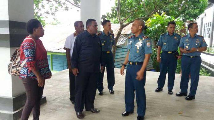 Tim MRPB saat bertandang ke Lantamal XV Sorong, Jumat (29/12).