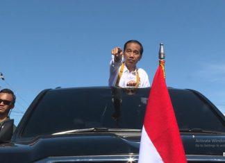 Presiden Joko Widodo dalam kunjungan ke Nabire, baru-baru ini.(foto: ist/Biro Pers Setpres.)