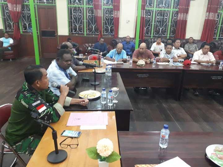 Rapat tim terpadu pasca pencabutan KLB Asmat, Minggu (11/2) (ist)