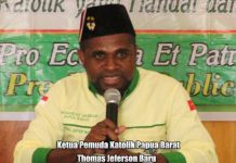 Ketua Pemuda Katolik Komisariat Papua Barat, Thomas Jeferson Baru