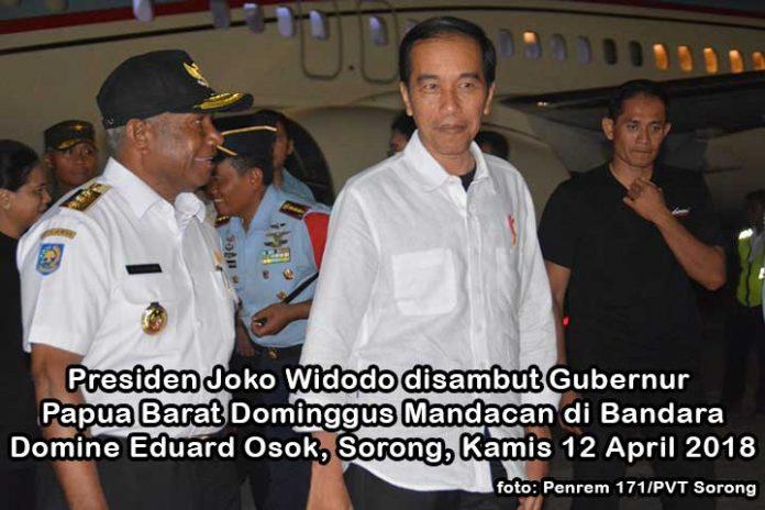 Presiden Joko Widodo Tiba di Sorong