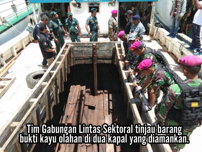 Tim Gabungan Gagalkan Penyelundupan Kayu 1,8 M