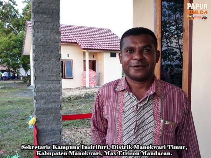Warga Insirifuri Tempati 100 Rumah Bantuan Kementerian PUPR