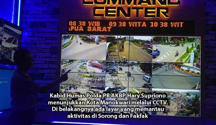 Polda Papua Barat Pantau Manokwari 1 x 24 Jam via CCTV