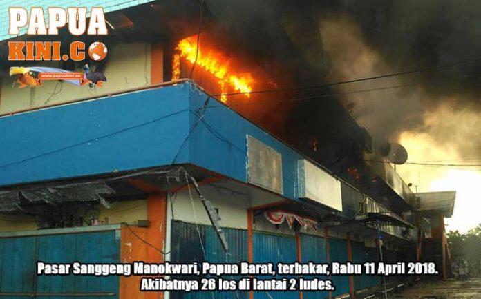 26 Los Pasar Sanggeng Ludes Terbakar