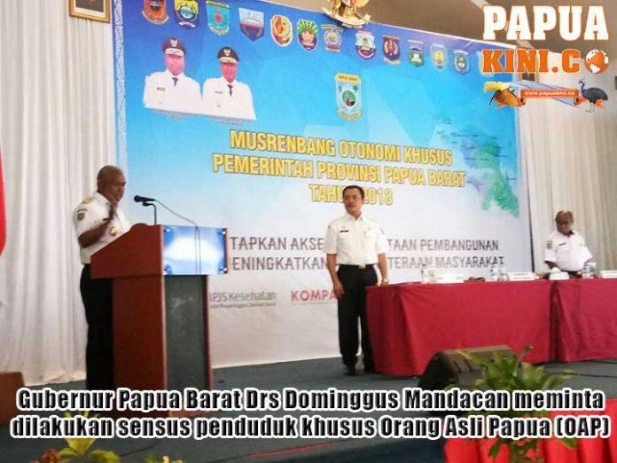 Gubernur Papua Barat Minta Sensus Khusus OAP
