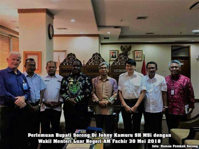Jajaki Investasi Australia dan AS, Bupati Sorong Temui Wakil Menteri Luar Negeri