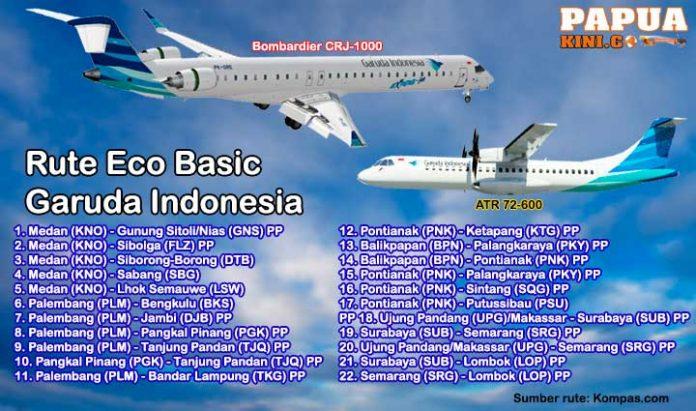 Manokwari dan Sorong Tak Masuk Tiket Eco Basic Garuda