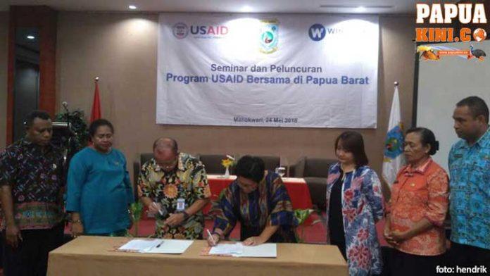 Pemprov Papua Barat-USAID Teken MoU Program KBG