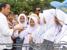 Presiden Joko Widodo Ajak Siswa Manfaatkan Media Sosial untuk Hal Positif