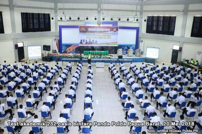 232 Casis Bintara Panda Polda Papua Barat Tes Akademik
