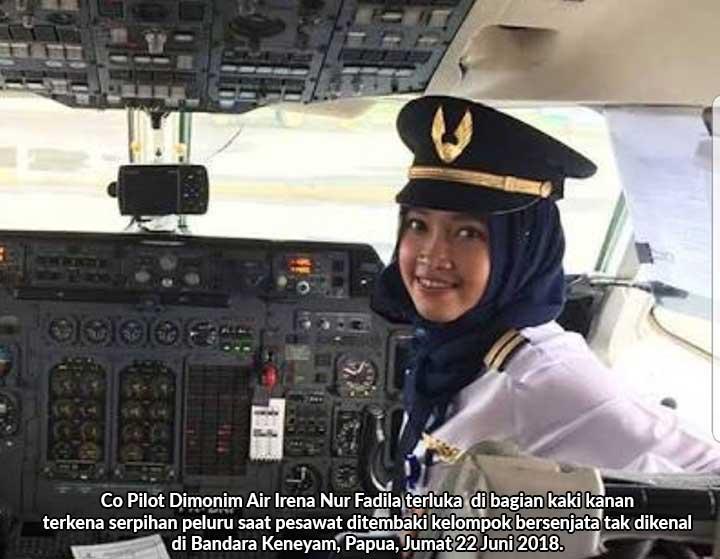 Pesawat Ditembak di Bandara Keneyam, Co Pilot Dimonim Air Terluka