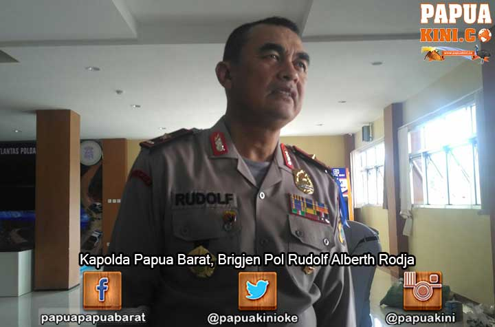 Kapolda Papua Barat, Brigjen Pol Rudolf Alberth Rodja