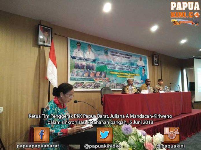 First Lady Papua Barat Minta PKK Topang Ketahanan Pangan