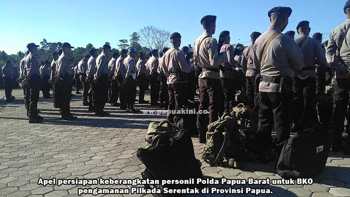 355 BKO Polda PB Siap Amankan Pilkada Papua