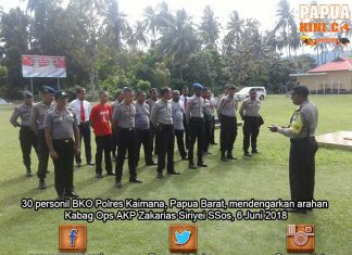 BKO Pilgub Papua, 30 Personil Kaimana Siap Diberangkatkan