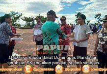 361 ASN Naik Pangkat, Gubernur Mandacan: Pulang dan Syukuri