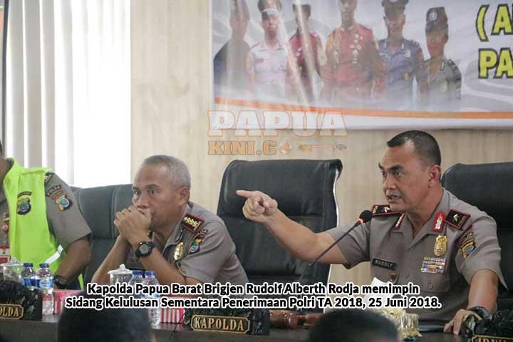 202 Orang Calon Polri Lolos Seleksi Sementara Mapolda Papua Barat
