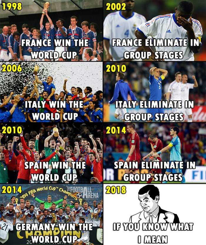 'Kutukan' Piala Dunia Buat Juara Bertahan Belum Berakhir