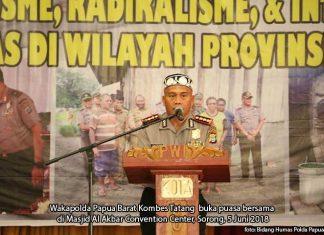 Bukber Tiga Pilar Kampung di Sorong, Wakapolda Ingatkan Antisipasi Teroris me