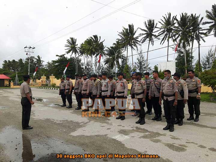 30 Personil BKO Pilgub Papua Kembali ke Kaimana