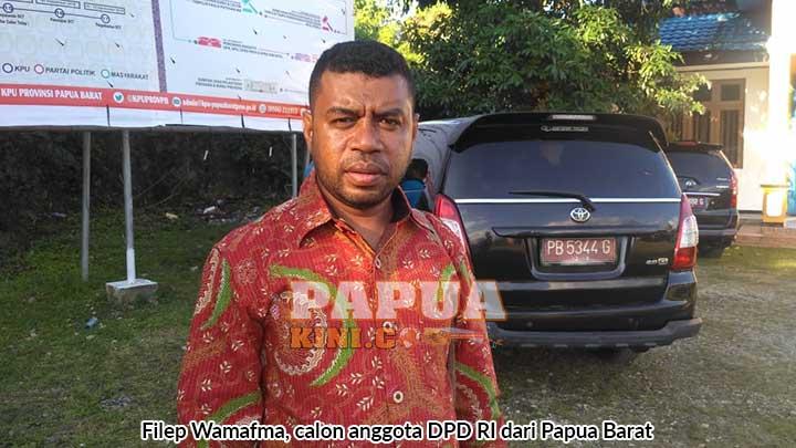 Filep Wamafma Yakin Terpilih DPD RI