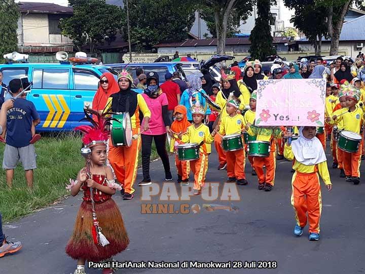 Ribuan Anak Meriahkan Pawai Hari Anak Nasional