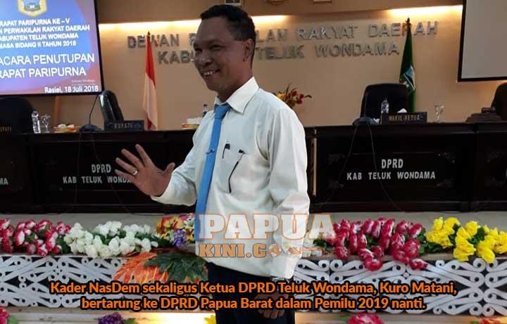 Ketua DPRD Teluk Wondama Bertarung ke DPRD Papua Barat