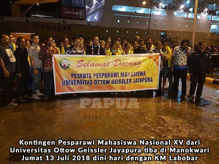 Kontingen Pesparamanas XV Universitas Ottow Geissler Jayapura Tiba