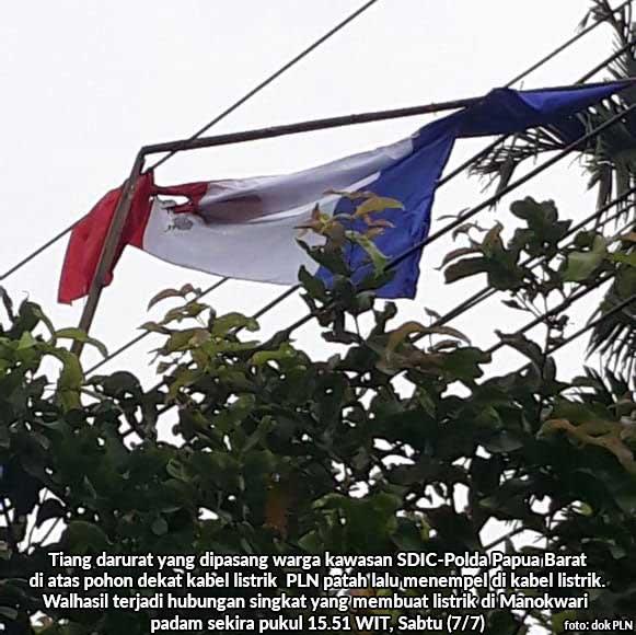 Bendera Perancis Tumbang, Listrik Manokwari Padam