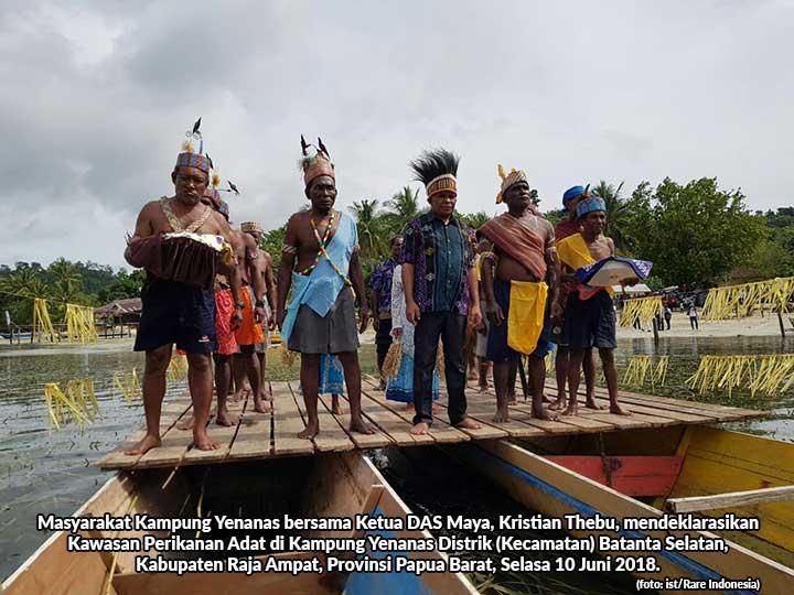 Warga 19 Kampung Suku Maya Deklarasi KPA Raja Ampat