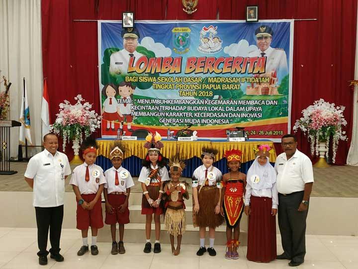 Minim Peserta Lomba Bercerita Tingkat SD/MI Papua Barat
