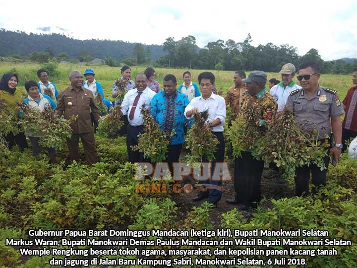 Gubernur Papua Barat Bangga Petani OAP
