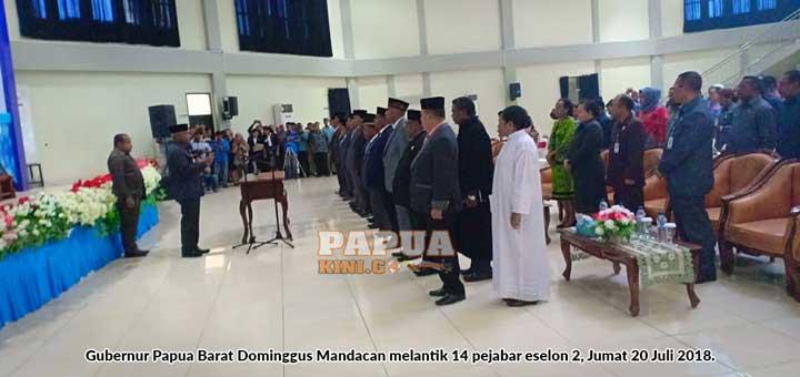 Ini 14 pejabat baru eselon 2 Papua Barat