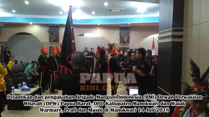 BMI Papua Barat Dilantik, Jaga Pancasila, UUD 45 dan Keutuhan NKRI