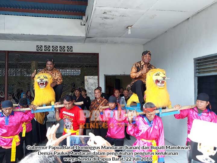 Gubernur dan Bupati Hadiri Pelantikan dan Pengukuhan Organisasi Warga Sunda di Manokwari