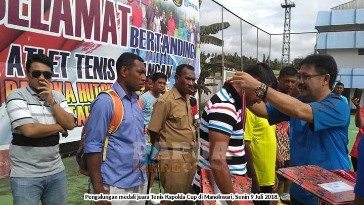 Polresta Sorong Juara Tenis Kapolda Cup