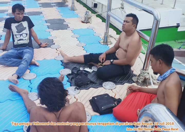 Perahu Pengantar Tim Pemeriksa Tower Telkomsel Asian Games Tenggelam di Raja Ampat