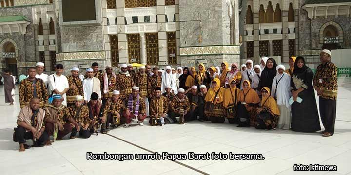 Malam Ini Jamaah Umroh Papua Barat Kembali ke Tanah Air