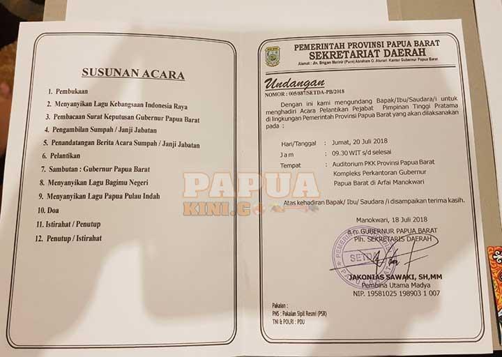 Besok Pelantikan 14 Pejabat Eselon Ii Papua Barat Papua Kini